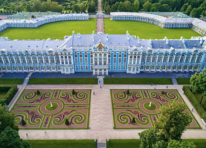 The Catherine Palace in the city of Pushkin