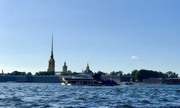 The Neva river and the Peter and Paul Fortress